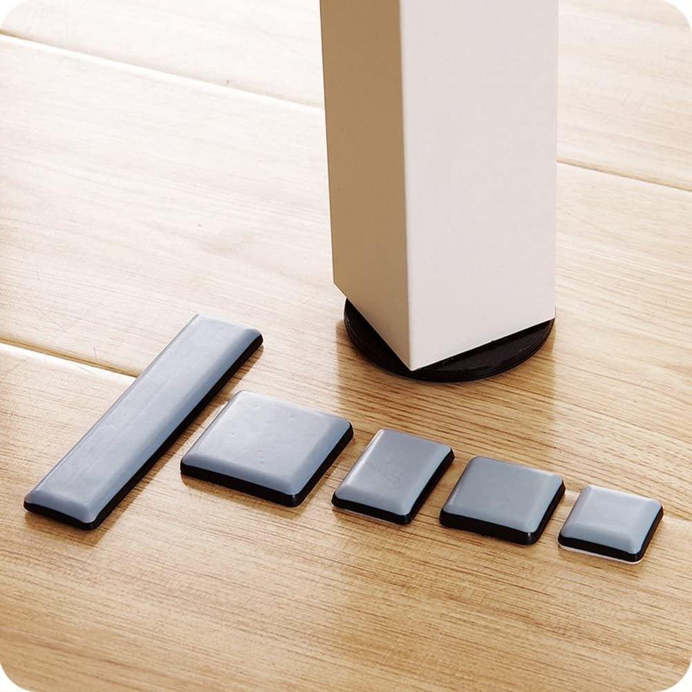LTZFTL Furniture Move Slide Mat Pads Heavy Furnitures Moving Tools Floor protector (6pcs 30mm square)