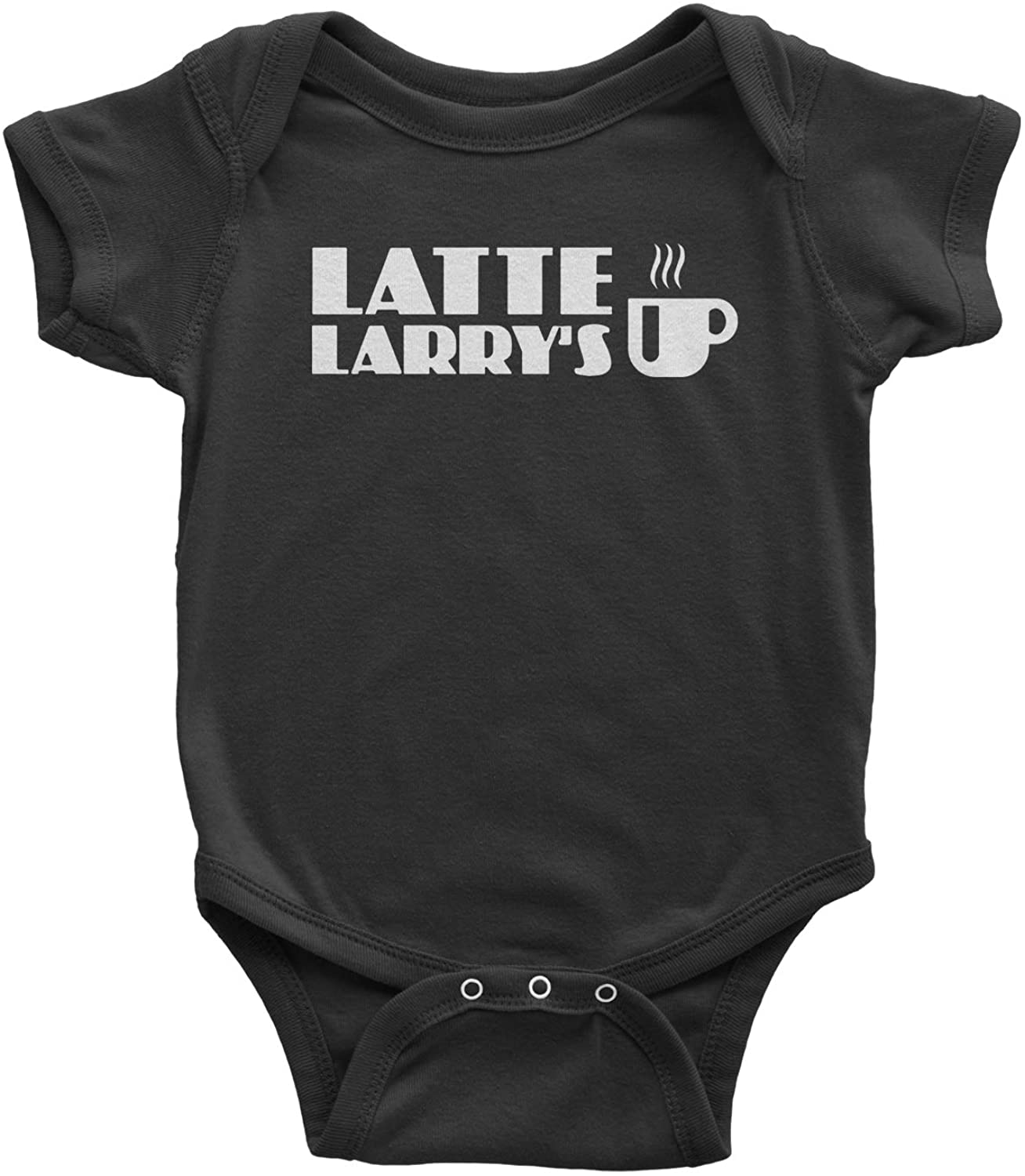 Expression Tees Latte Larry's Enthusiastic Coffee Infant One-Piece Romper Bodysuit