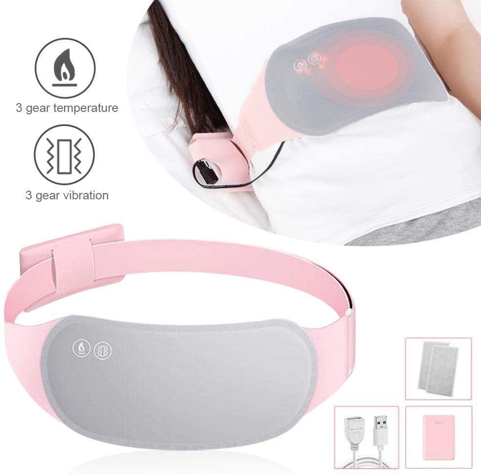 Heating Waist Belt, Electric Heating Pad for Back Pain & Stomach Cramps, Safe Hot Therapies Pain Relief, Lumbar Warmer Wrap Suitable for Women