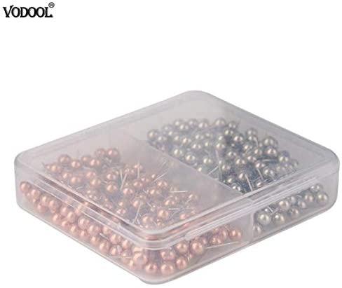 Clips VODOOL Push Pins Assorted Paper Map Cork Board Capped Headed Fixing Thumb Tacks 400/200 Pins - (Color: 2)