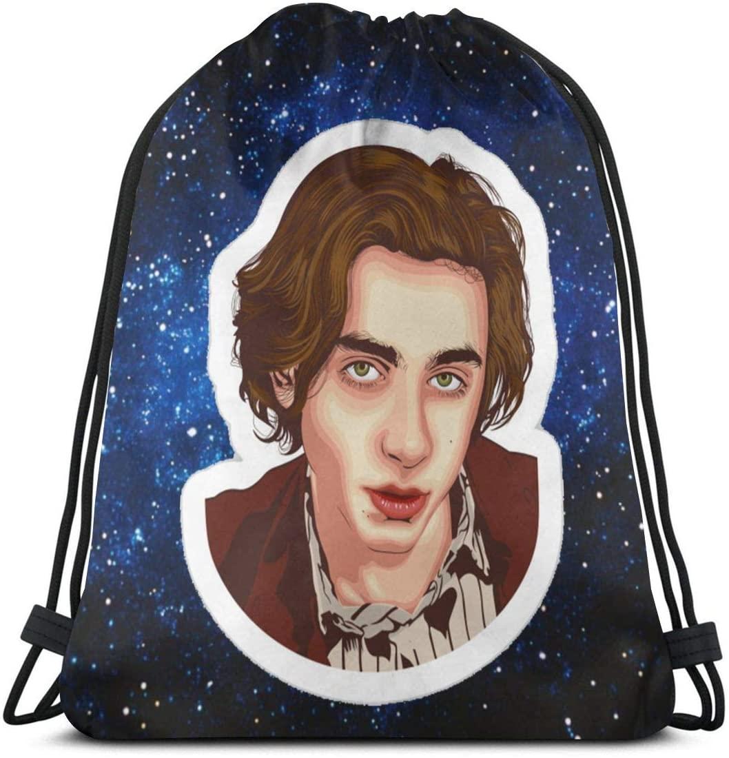 BEIN Timothee-Chalamet Backpack Drawstring Bags Gym Bag
