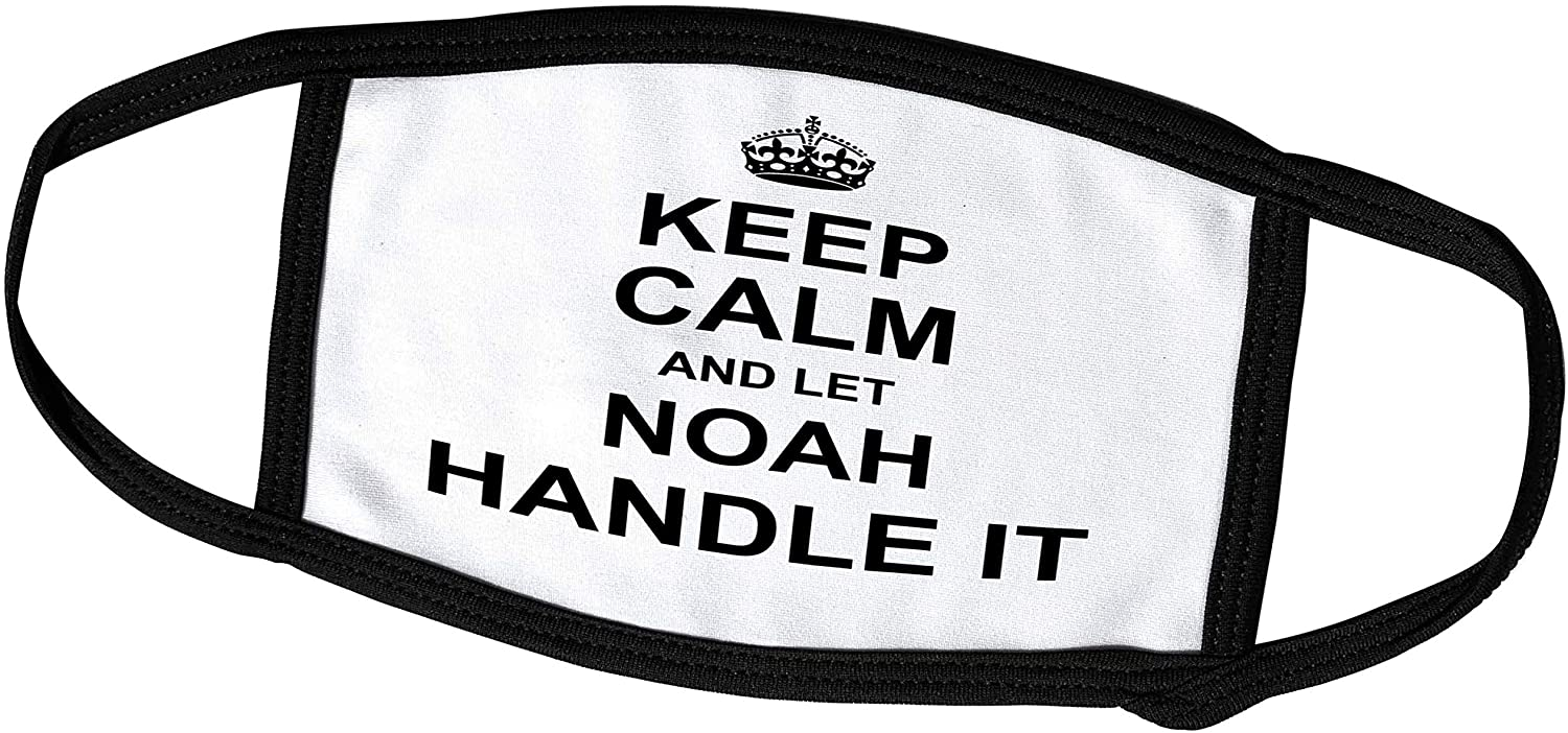 3dRose InspirationzStore Name Design - Keep Calm and Let Noah Handle it - Funny Personal Name - Face Masks (fm_233352_2)