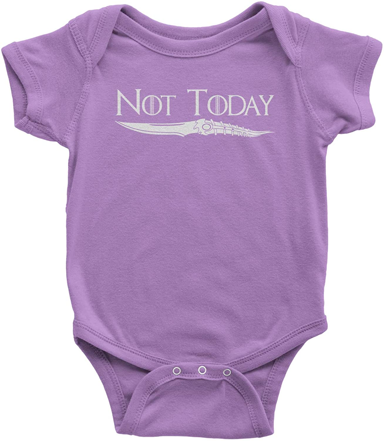 Expression Tees Not Today Arya Catspaw Dagger Infant One-Piece Romper Bodysuit