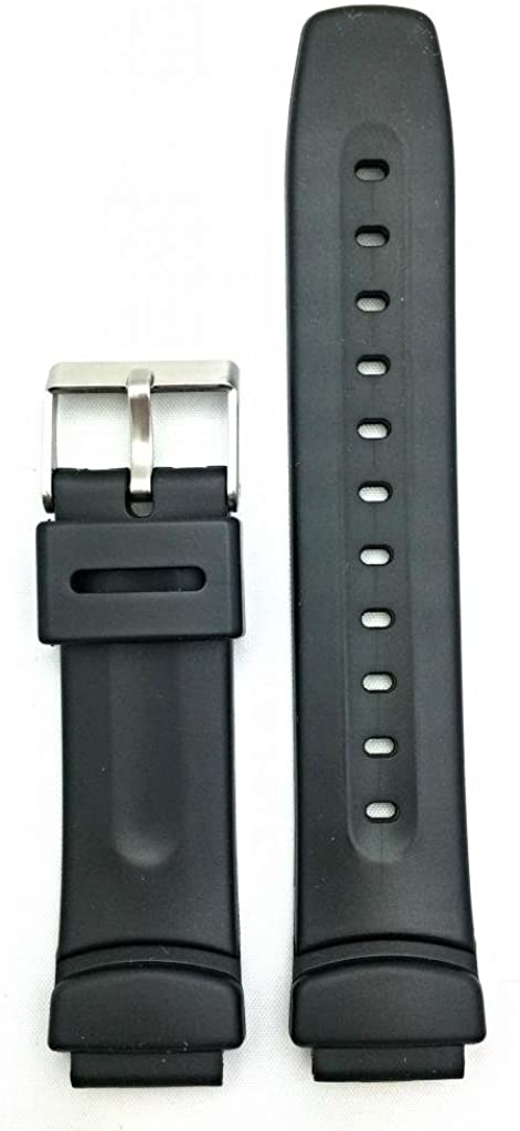 16mm Black Rubber PVC Material Watch Band | Comfortable and Durable Replacement Wrist Strap That Brings New Life to Any Watch for Men and Women
