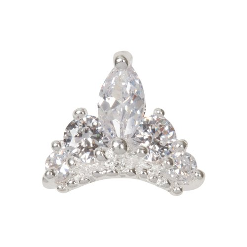 Zink Color Nail Art Luxe/Bridal Marquise Cut Tiara