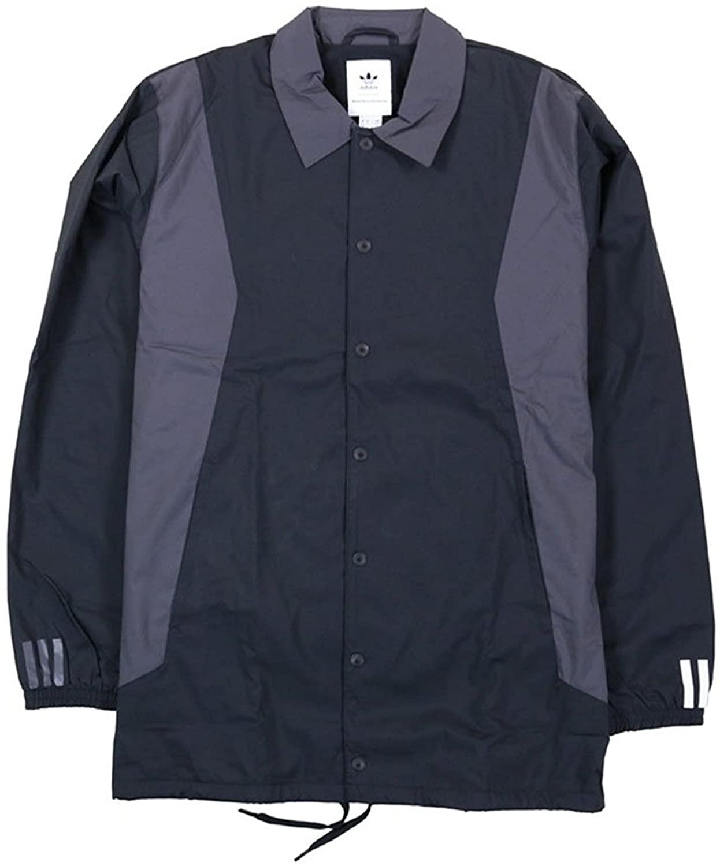 adidas Men White Mountaineering Long Bench Jacket (Black)