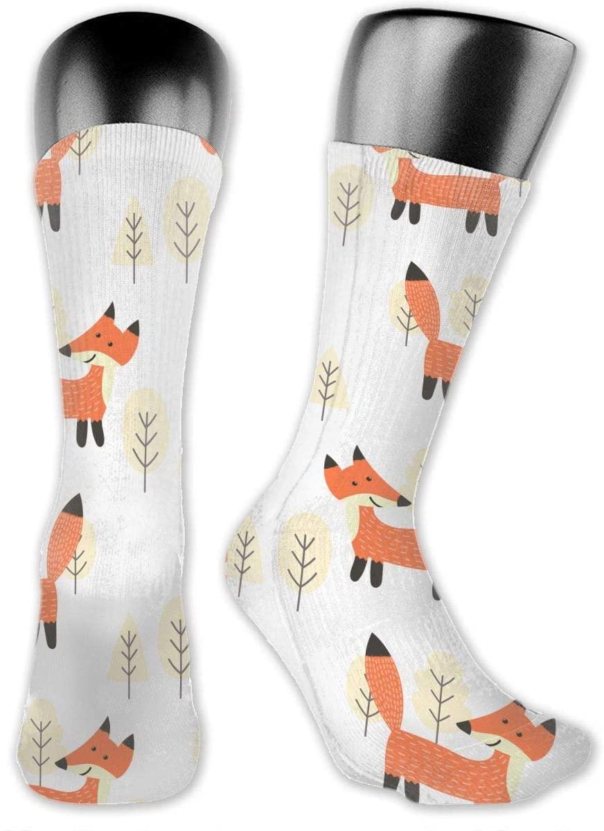 Cute Fox Unisex Outdoor Long Socks Sport Athletic Crew Socks Stockings