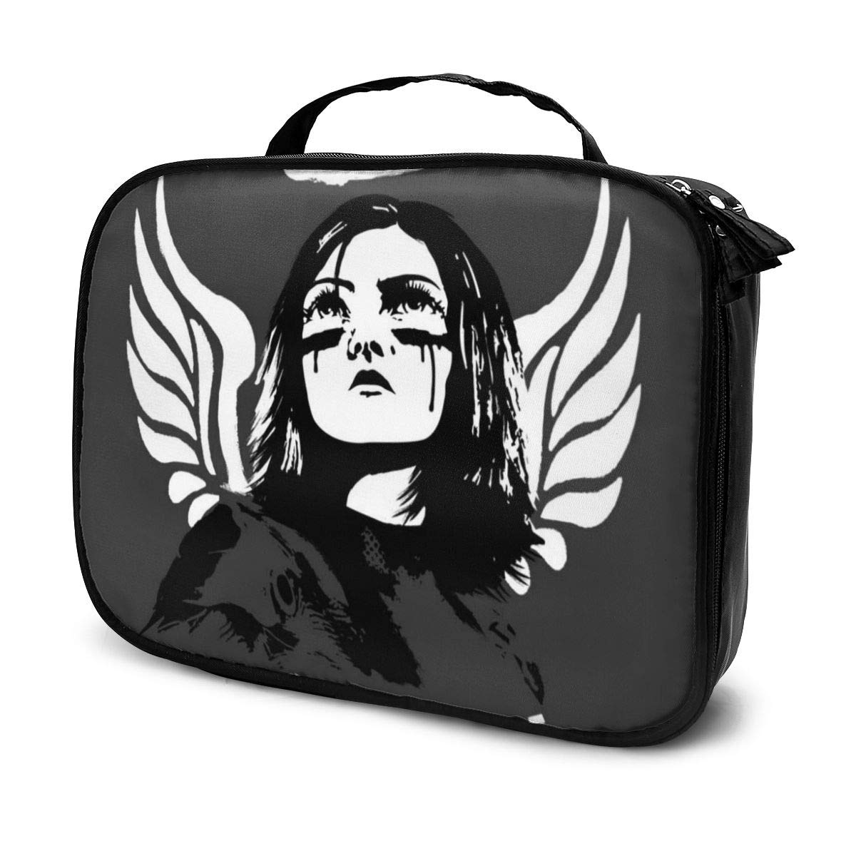 Multi-Functional Bag With Compartments Alita Battle Angel Viva Cyborg Professional Cosmetic Pouch Travel Kit Makeup Boxes Makeup Bag