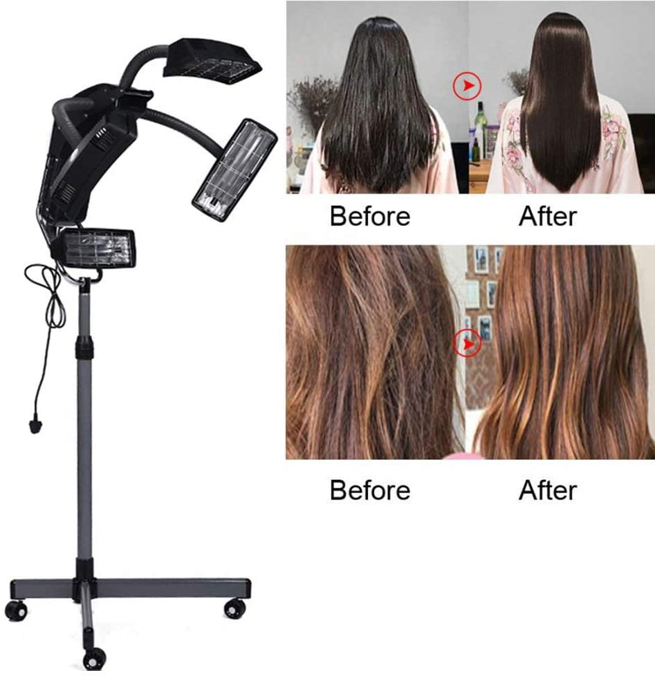 Law 950W Professional Hair Dryer Stand Dry Hood for hairstyling with Base and 4 Wheels 60 min Heat Timer Applicable to Family Beauty Salon