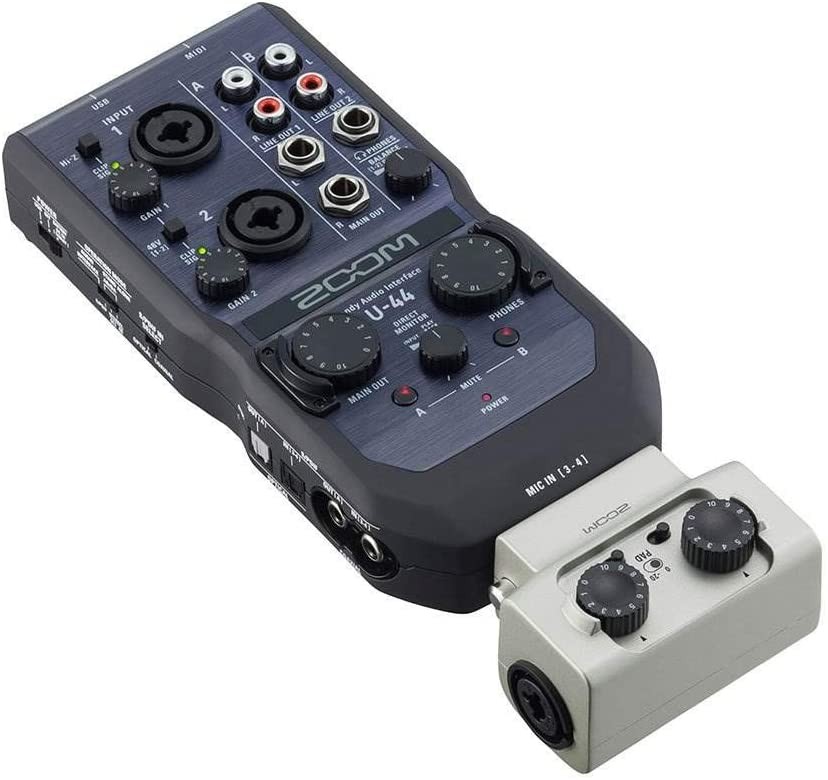 Zoom 4 in/ 4 Out Audio Recorder Dual XLR/TRS External Mic Attachment