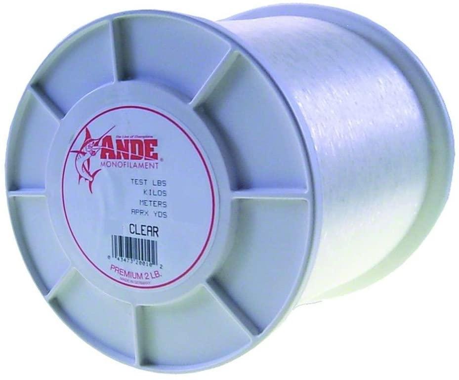 Ande A2-15C Premium Monofilament, 2-Pound Spool, 15-Pound Test, Clear Finish