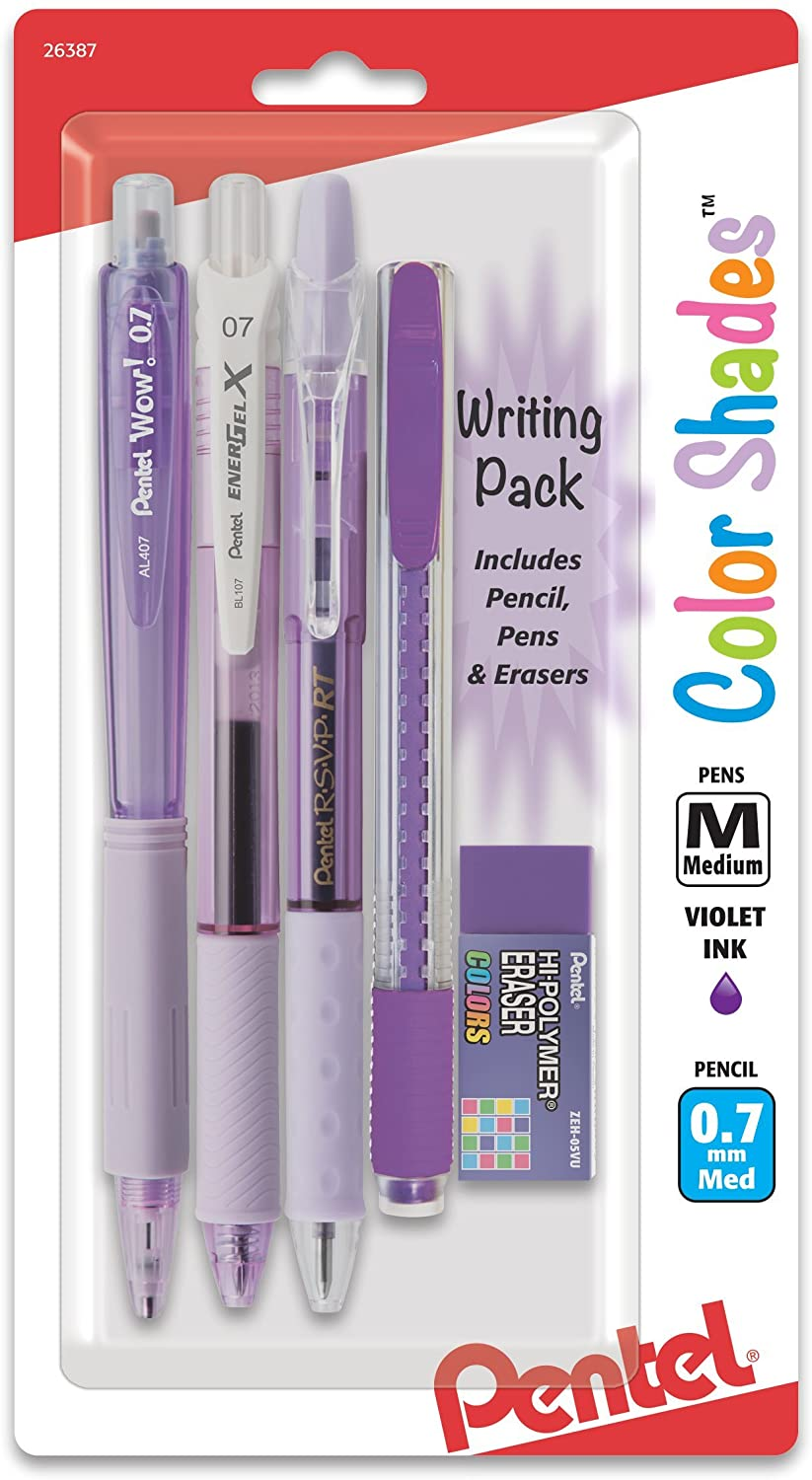 Pentel Color Shades Writing Pack - Pastel Violet (BLBKALZBPV)