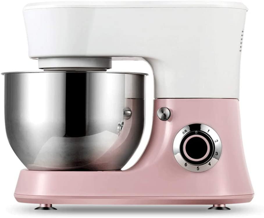 LEILEI 4.8L 6 Speed 1000W Stand Mixer,Professional Electric Food Stand Mixer with 3 Kinds of Stirring Tools