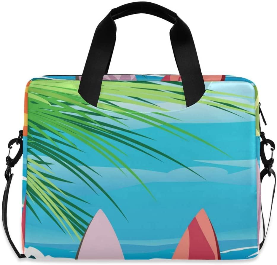 Laptop Bag, Four Surf Boards Vector Laptop Briefcase Bag, 16 Inch Slim Laptop Backpack Laptop Case