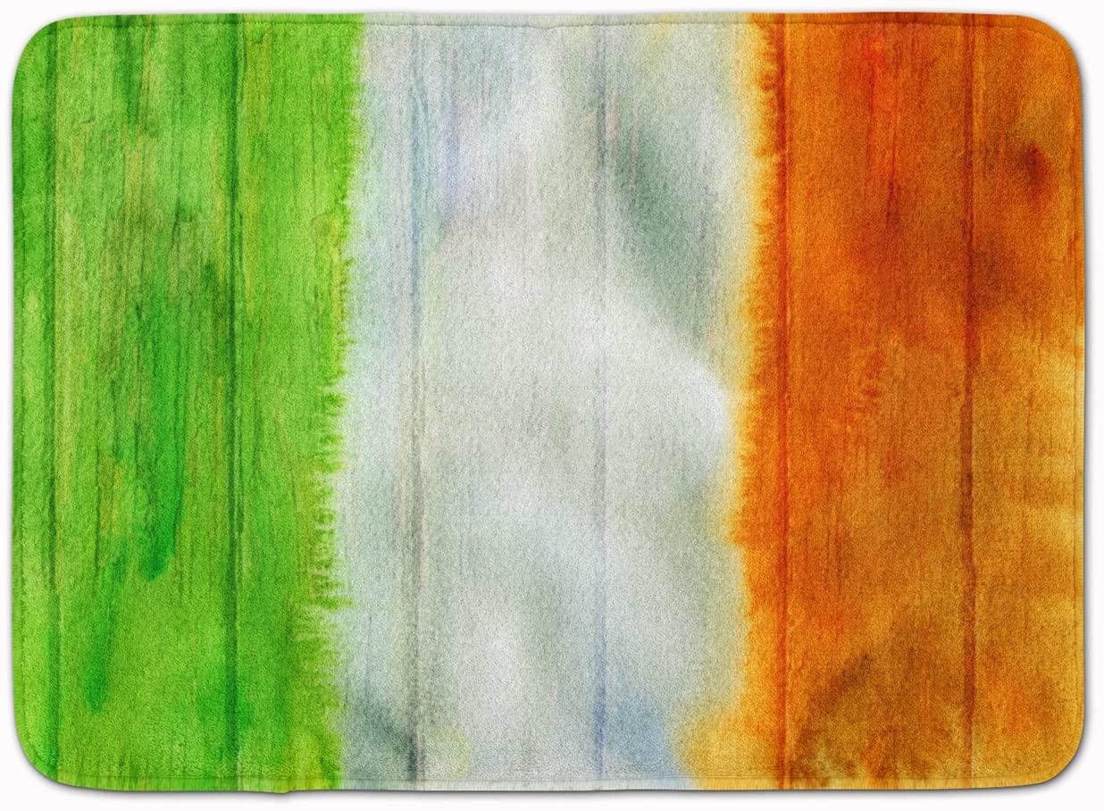 Carolines Treasures BB5753RUG Irish Flag on Wood Machine Washable Memory Foam Mat, 19 X 27, Multicolor