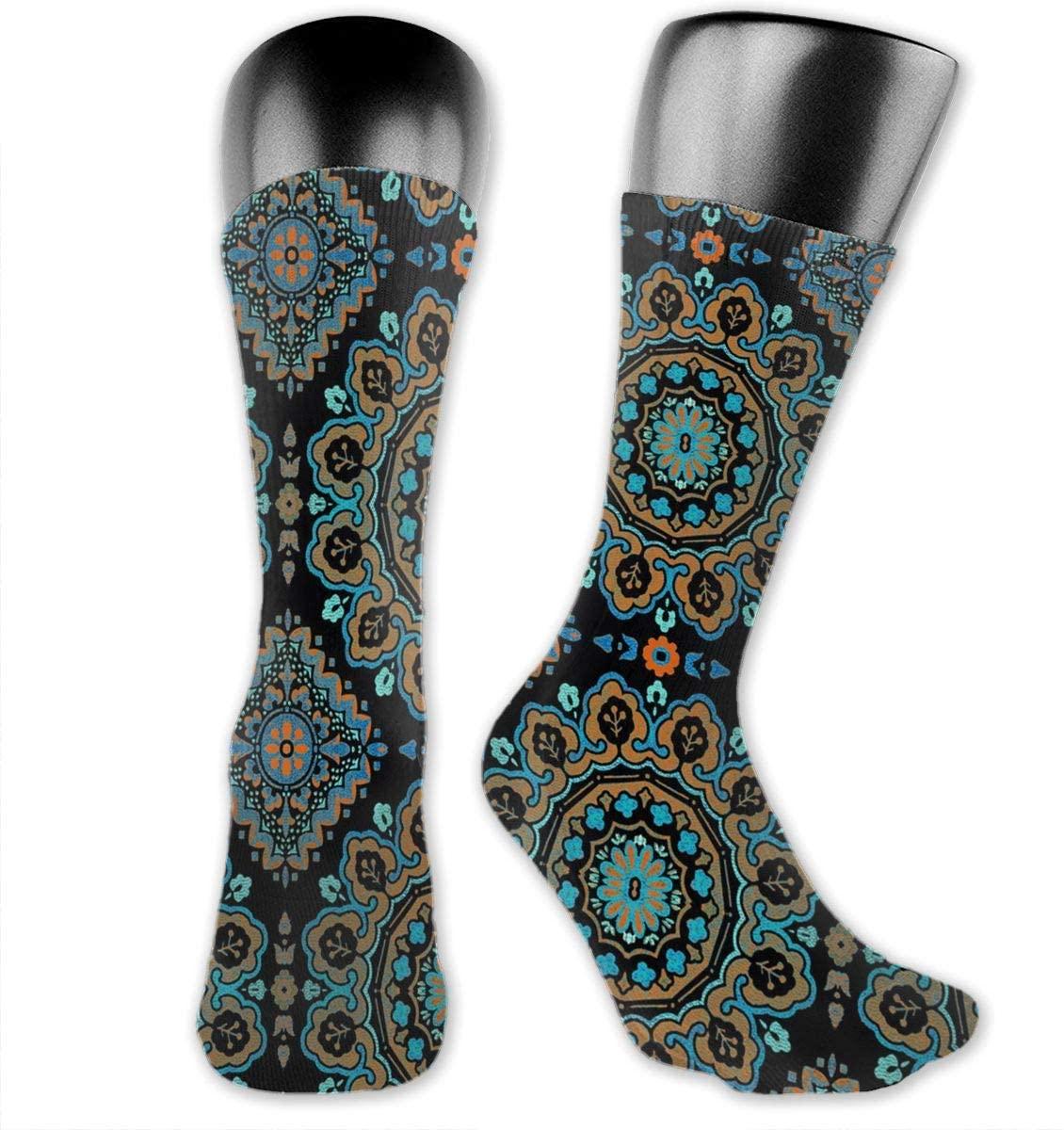 Moroccan Multi Unisex Outdoor Long Socks Sport Athletic Crew Socks Stockings