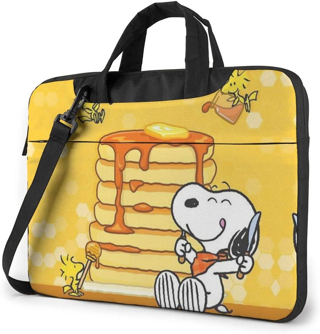13 Inch Laptop Bag Snoopy Eating Honey Laptop Briefcase Shoulder Messenger Bag Case Sleeve