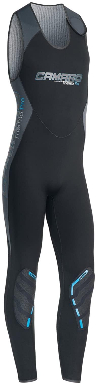 Camaro Men's Farmer John Thermos PRO Wetsuits, Black, Medium/50