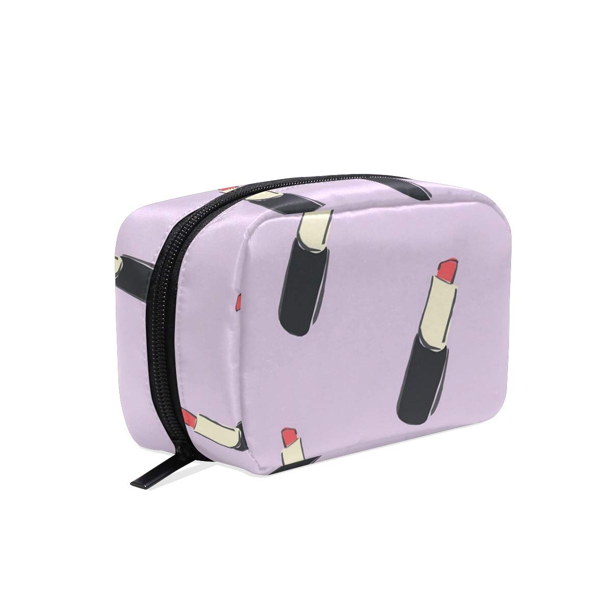 ILEEY Lipstick Pattern Cosmetic Pouch Clutch Makeup Bag Travel Organizer Case Toiletry Pouch for Women