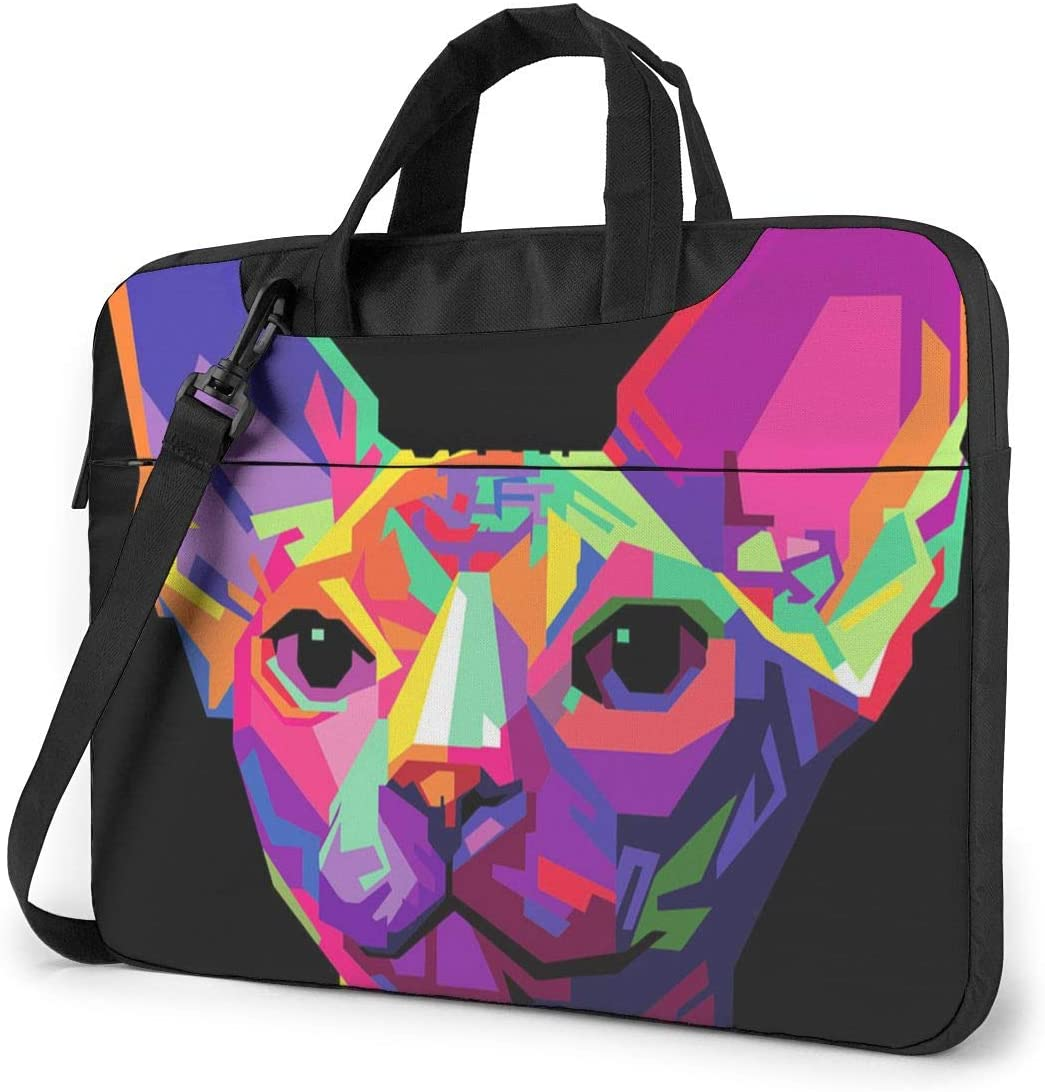 Sphynx Cat Classic Laptop Bag-Messenger Shoulder Bag Notebook Bag Compatible with 14 Inch MacBook Pro MacBook Air Lenovo Acer Asus Dell Hp Samsung
