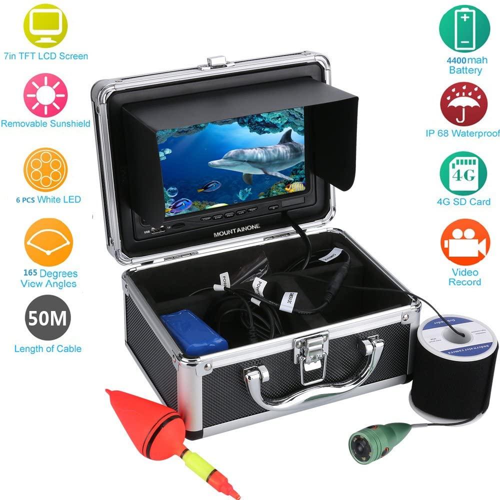7 Inch Color Digital LCD 1000TVL Fish Finder HD DVR Recorder Waterproof Fishing Video Underwater Fishing Camera,50m