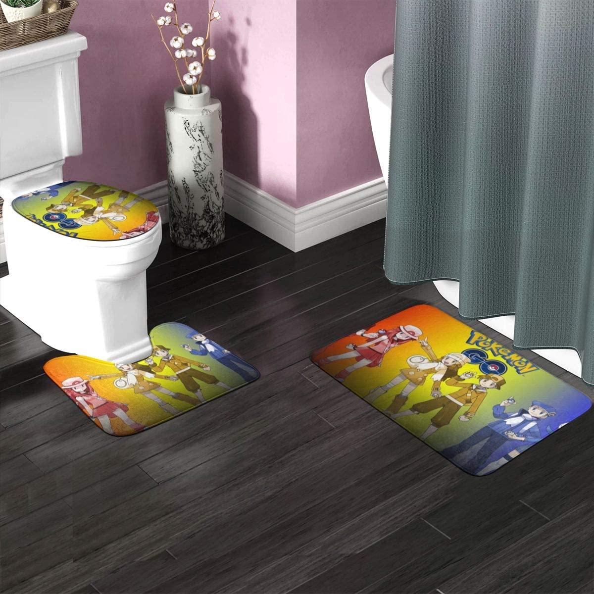 3 PCS Bathroom Rugs Set 35.4