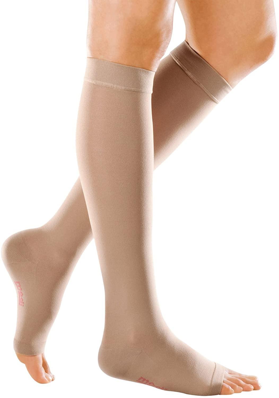 Mediven Forte 40-50 mmHg Extra-Wide Knee High Open Toe : Beige Size IV