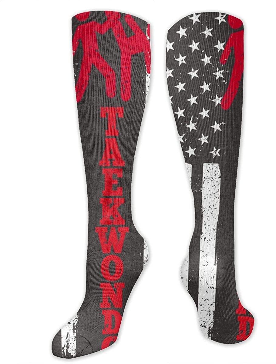 Flag Taekwondo Athletic Socks Thigh Stockings Over Knee Leg High Socks