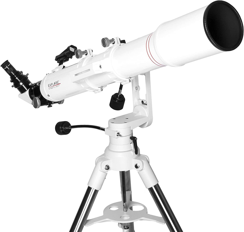 Explore Scientific FL-AR1021000MAZ01 Refractor Telescope with TWI 1, 102mm, White