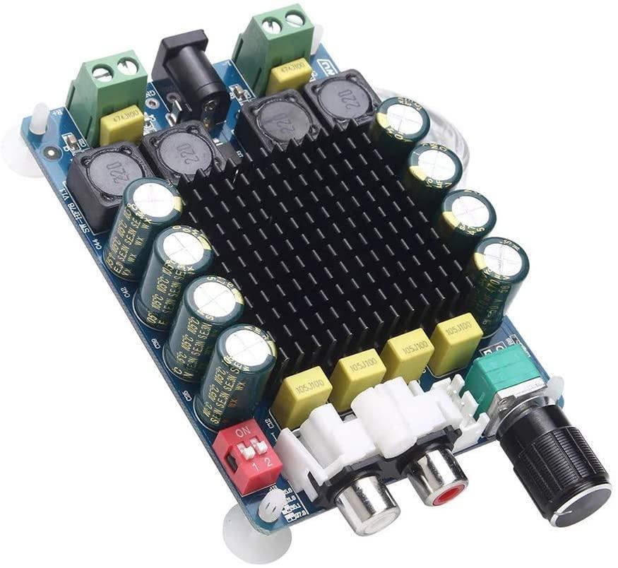 XinQuan Wang TDA7498 2X100W Power Amplifier Board High Power Digital Amplifier Board Two Channel Stereo