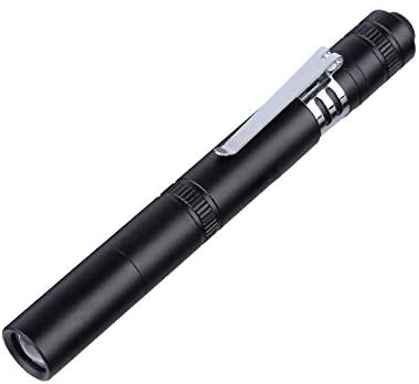 McArtis Mini Penlight Medical Torch Dual Light High Beam Super Bright LED Portable Tactical Powerful Flashlight Waterproof 91 Lumen Brightness Everyday