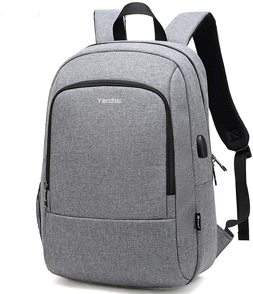 Yerchic Laptop Backpack Business Slim Computer Bag School Backpack Fit 15.6 Inch