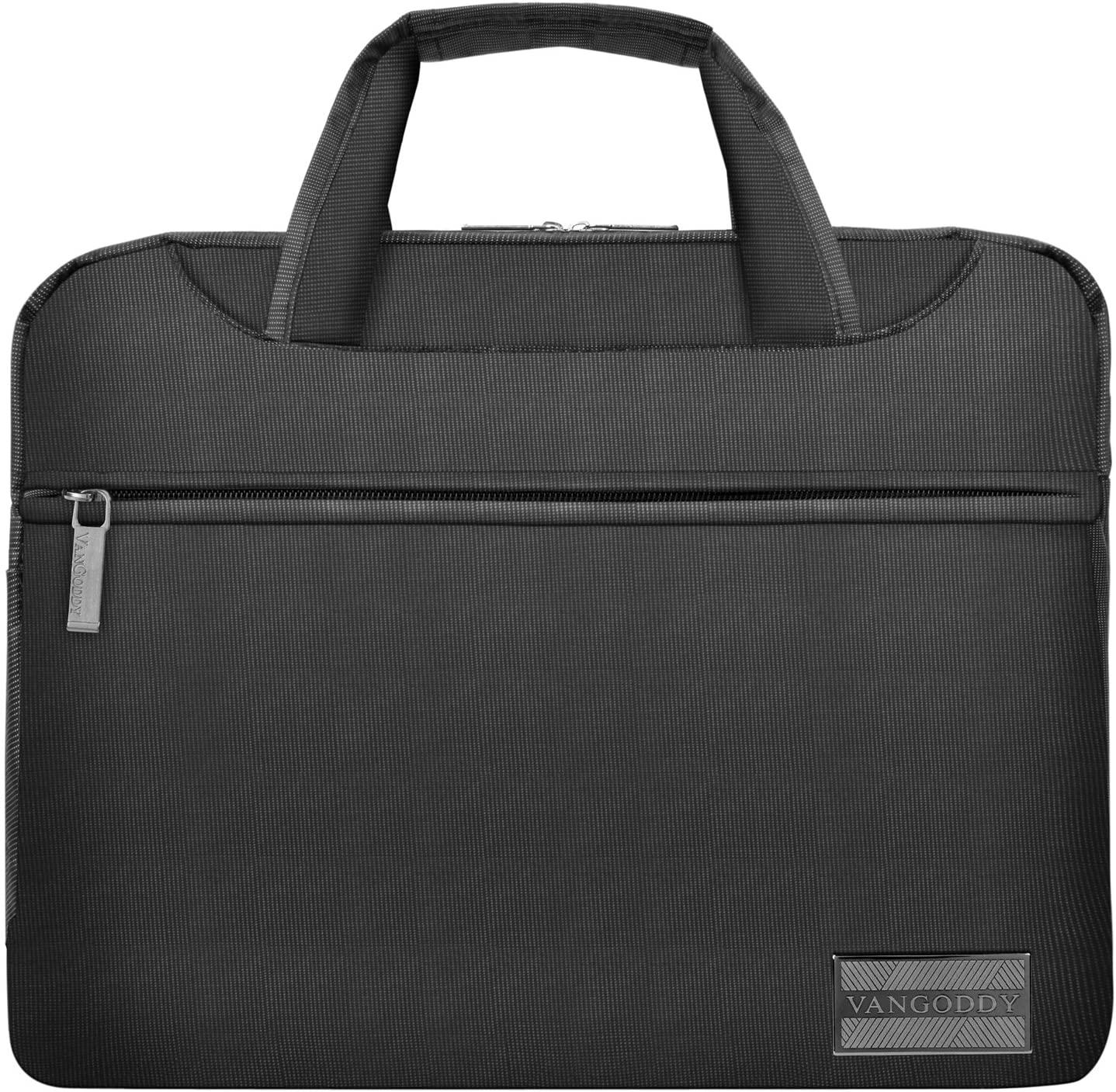 13 inch.3 inch Nylon Zipper Messenger Shoulder Bag Satchel Black for Asus Chromebook Flip 12.5 inch, Spin 7 14 inch, Transformer Book Flip, Transformer 3, 3 Pro, ZenBook 3 Series Tablet Laptop