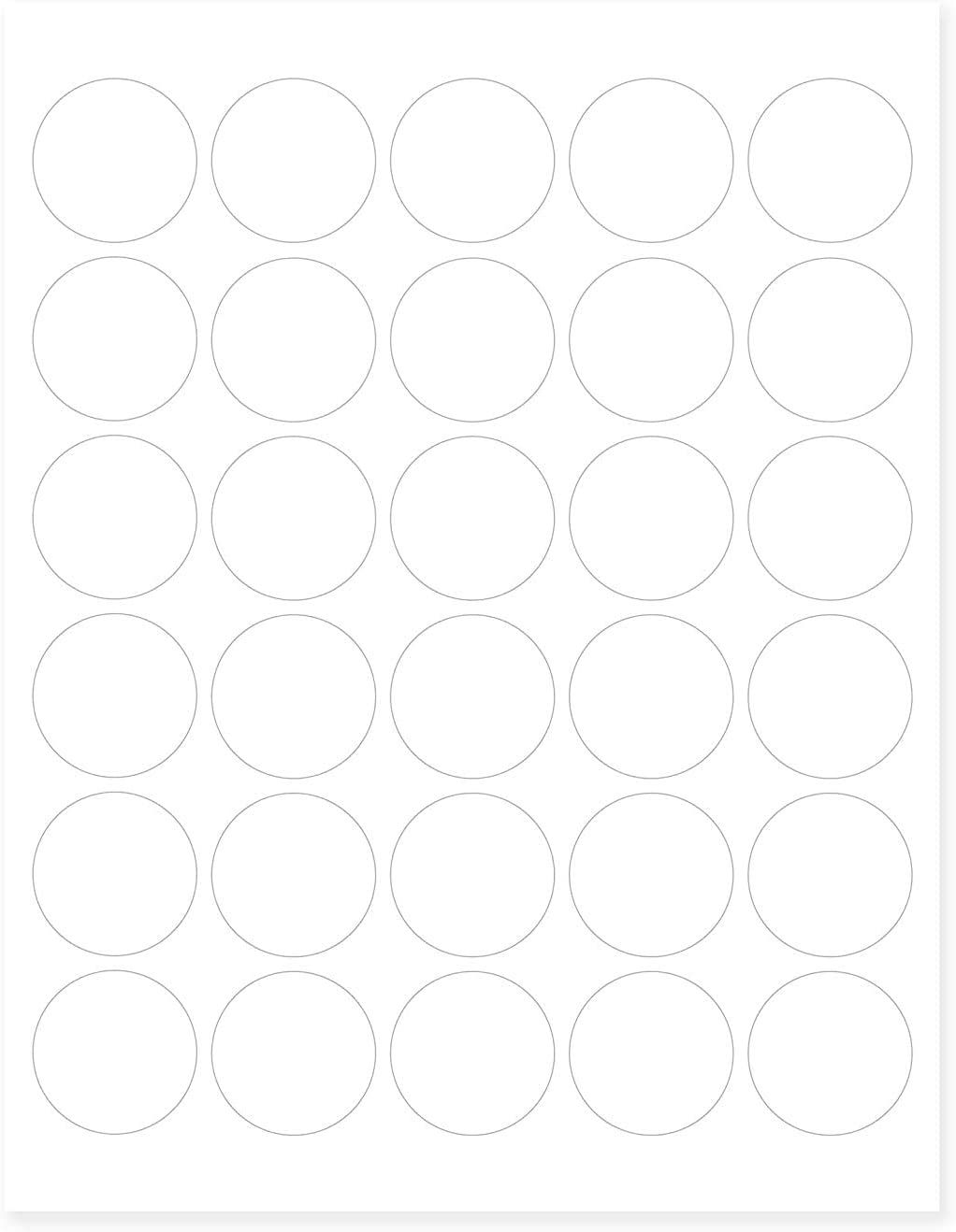 Mr-Label –Matte Frosted Clear Round Seal Label – Inkjet and Laser Print – US Letter Sheet Size –Waterproof See-Through Stickers – for Food Package | Bottle | Jar | Envelope (10)