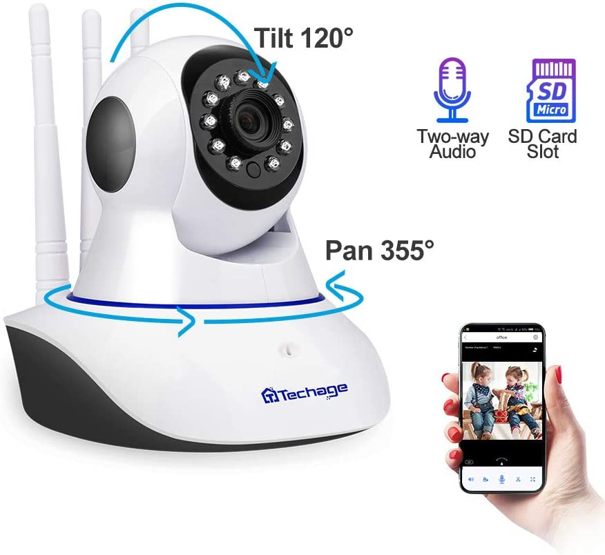 1080p Wireless IP Camera Pan Tilt 2mp Dome Indoor Two Way Audio CCTV WiFi Camera Baby Monitor Video Security Surveillance