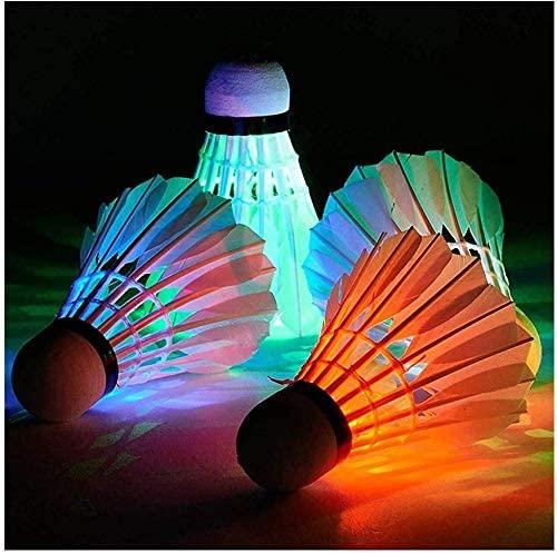RJEU LED Badminton Shuttlecocks Lighting Birdies Shuttlecocks Glow