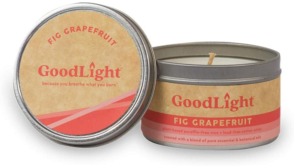 GoodLight Paraffin-Free Fig Grapefruit Scented Candle Tin, 6 oz