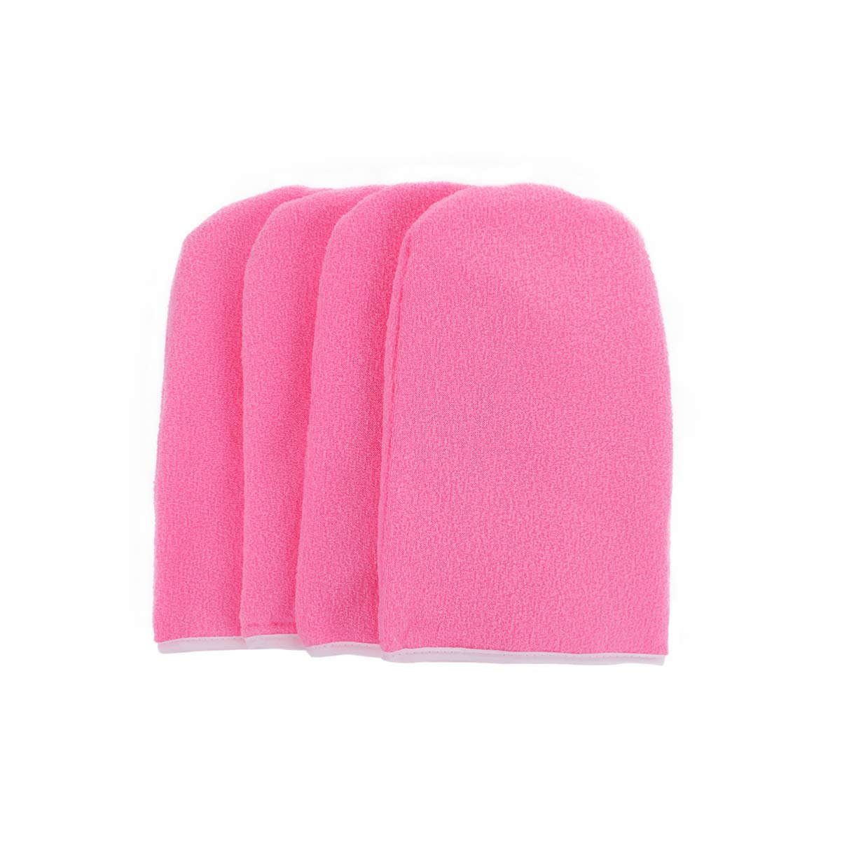Pixnor 2 Pairs Paraffin Wax Gloves,Terry Cloth Gloves Wax Care Insulated Mittens Cotton Mitts for Paraffin Wax Bath(Pink)