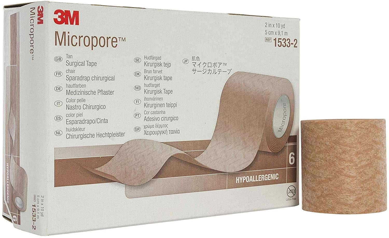 3M-1533-2 Tape Micropore Surgical LF Paper 2