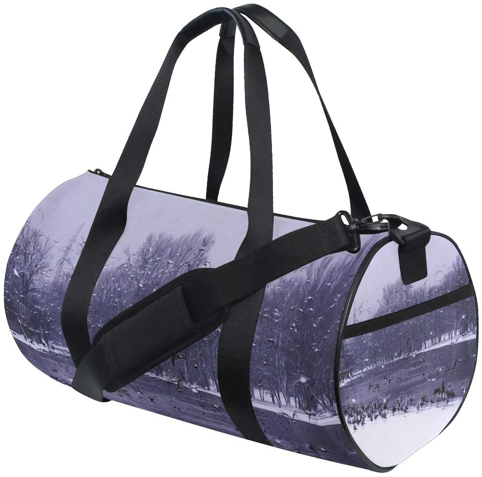 Foldable Duffle Bag Water Nature Forest Lightweight Travel Sports Gym Bags Overnight for Women Men
