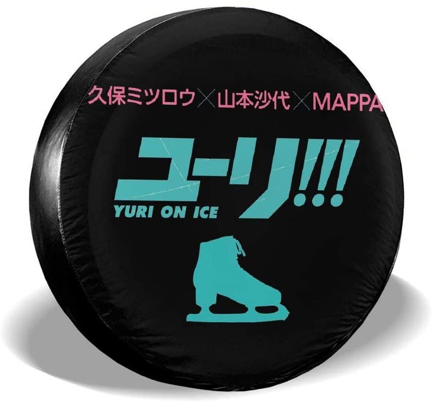 Chenjiaj Yuri On Ice Anime Rv SUV Truck Spare Tire Protection Tire Cover 14