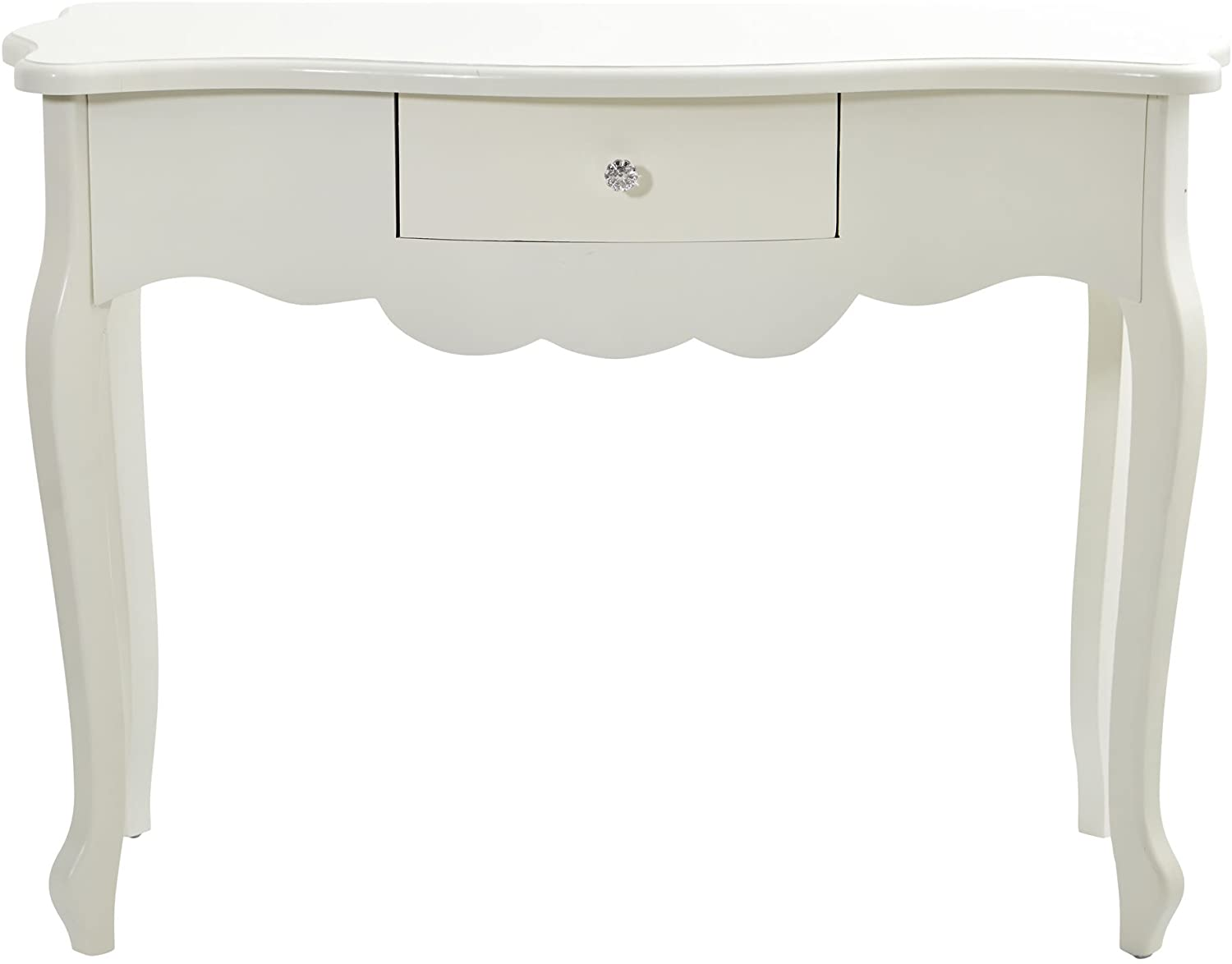 Nearly Natural Desk with Drawer Furniture White