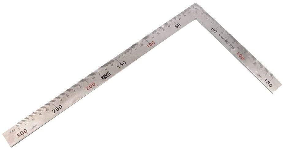 AYMIMII 5pcs of Stainless Steel 300mm 90 Degree Angle Metric Try Mitre Square Ruler