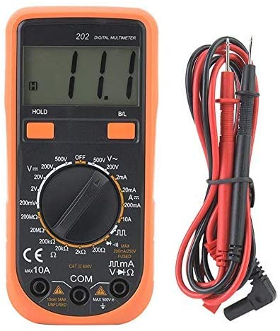 YITENSEN202 Digital multimeter, AC/DC multimeter tester Current voltage tester with continuity resistance, capacitance, frequency and diode test, digital electronic multimeter tester