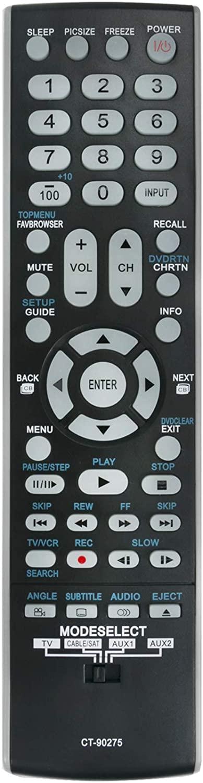 ALLIMITY CT-90275 Replaced Remote Control Fit for Toshiba TV 32AV500U 37AV500U 26LV47 26LV67 37HL67S 32HL67U 32LV67U 26HL47 32HL67 26HL67 42HL67US 37HL67 42HL67 65HM167 57HM117 65HM117 37AV50U 32HL67U
