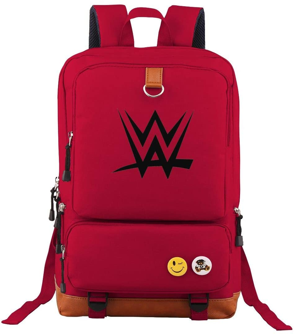 WWE Oxford Waterproof Anti-Theft Laptop Backpack Bickpick Large Capacity Backpack Rucksack Travel Backpack for Man Woman Red