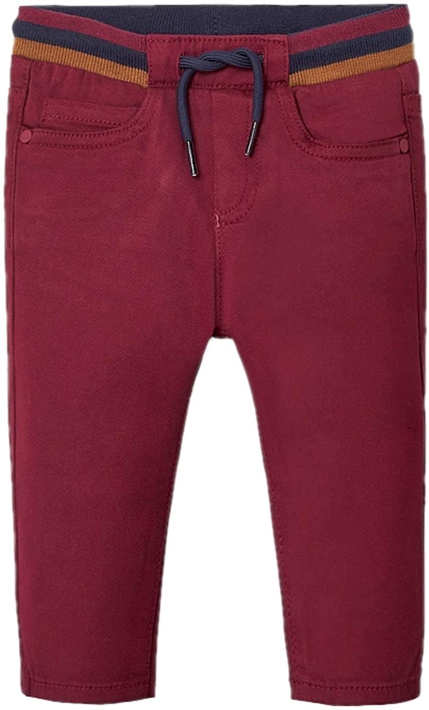 Mayoral - 5 Pocket Patterned Pants for Baby-Boys - 2578, Bordeaux