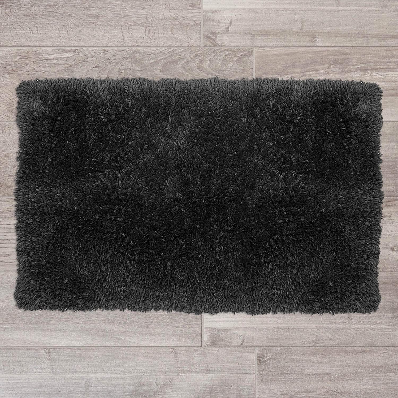 Nestl Bedding Medium Shaggy Rug with Non-Slip Rubber Backing – Machine Washable Super Soft Microfiber Rug – Plush Absorbent Bath Rug - 20