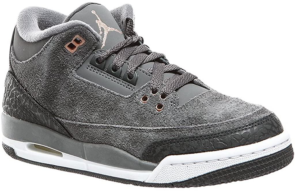 Air Jordan 3 Retro GG Kids Metallic/Red/Bronze 441140-035 (Size: