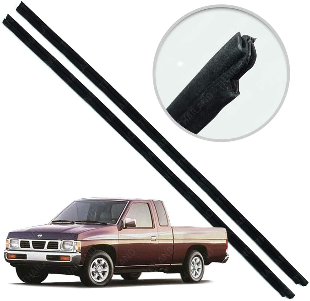 Powerwarauto Set Inner Door Weather Window Rubber Seal Belt For Nissan Navara D21 Big-M Big M Hardbody Pick-Up Truck 1986 1990 1991-1997 1998 1999 2000